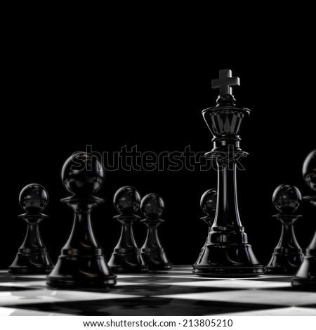 Dark chess - stock photo