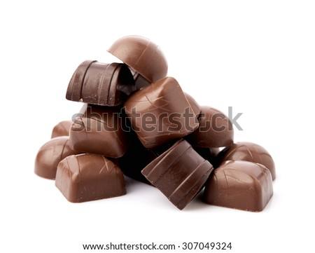 Dark chocolate - stock photo