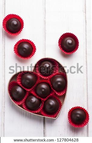Kẹo Sôcôla đen trong hình trái tim