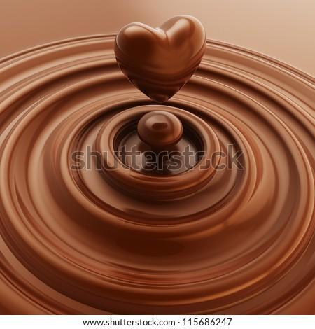 biểu tượng sô cô la trái tim đen tối như một minh họa nền thả lỏng
