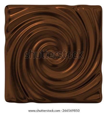 Dark chocolate swirl - stock photo