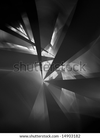 Dark City - fractal design - stock photo