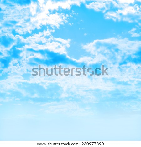 dark cloud on blue sky - stock photo