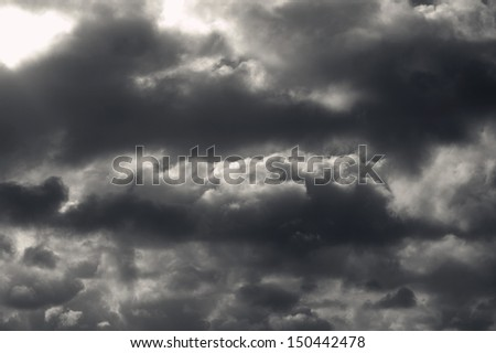 Dark clouds - stock photo