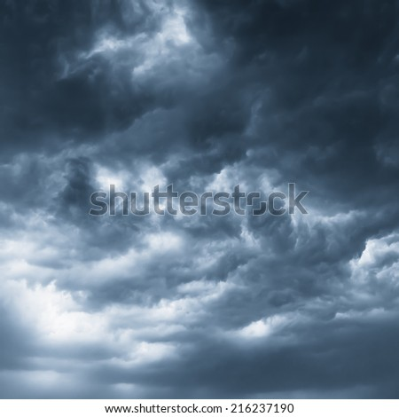 dark clouds - stock photo