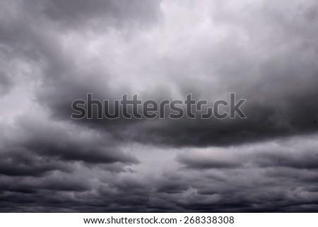 Dark clouds  before the thunder-storm, rain. - stock photo