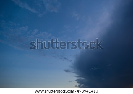 dark cloudy sky before rain storm for  background