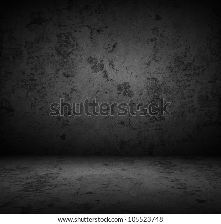 Dark concrete wall background - stock photo