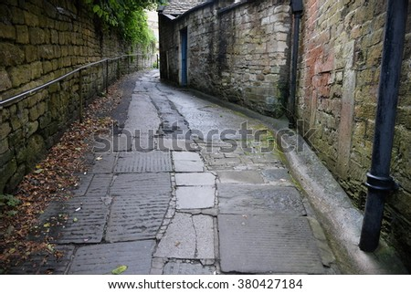 Dark Empty Alleyway - stock photo
