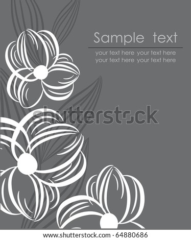Dark floral background. Jpeg - stock photo