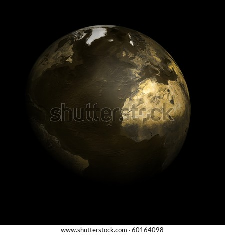 Dark Gold Globe East Atlantic view