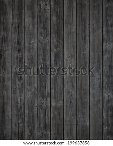 Dark Gray or Off Black Rustic Painted Wood Boards.  Color photo. A Halloween design element.  Vertical  - stock photo