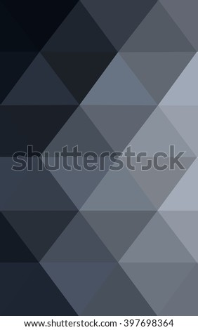 Dark gray polygonal illustration, which consist of triangles. Geometric background in Origami style with gradient. Triangular design for your business.