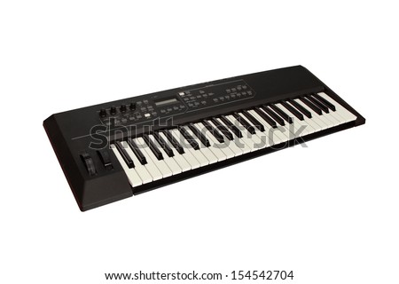 Dark Gray Synthesizer  - stock photo