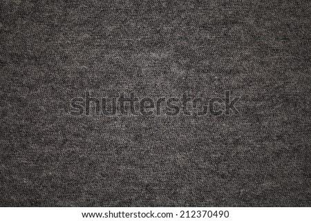 Dark gray t-shirt fabric texture and background - stock photo