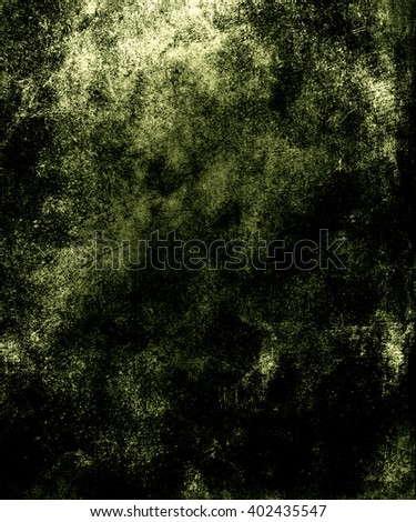 Dark Green Abstract Grunge Wall Background, Old scary texture