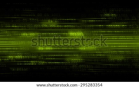 dark green Binary matrix with motion effect. technology graphic computer cyber. infographics. one. zero. glow.