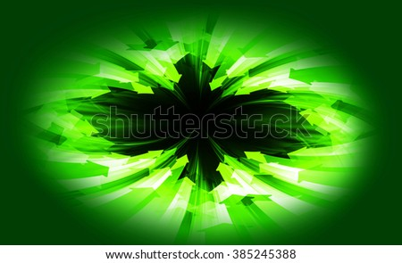 dark green Circle wave arrow illustration of technology internet network computer background with binary number, style. infographics. Information. motion blur. pixel. Binary digit. web wabsite tech - stock photo