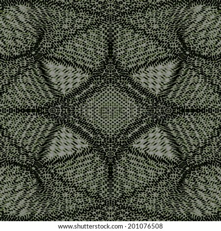 dark green folk background doily openwork pattern