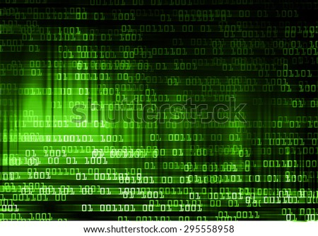 dark green illustration of technology internet network computer background with binary number, style background. infographics. Information. ray. wave