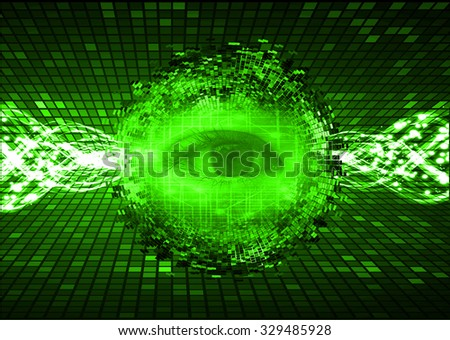 dark green illustration of technology internet network computer background with binary number, style background. infographics. Information. motion blur. pixel. Binary digit. number. eye