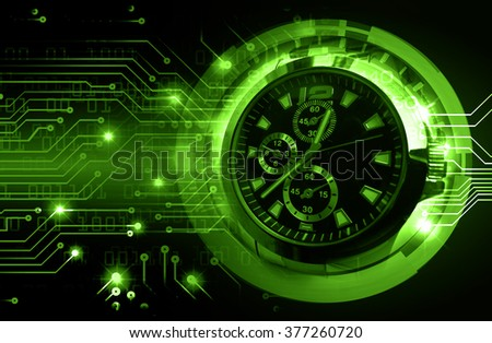 dark green illustration of technology internet network computer background with binary number, style. infographics. Information. motion blur. pixel. Binary digit. number. Odometer,clock, watch - stock photo