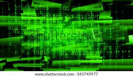 dark green Light Abstract Technology background for computer graphic website internet and business. circuit. illustration.digital.infographics. binary code. zero one