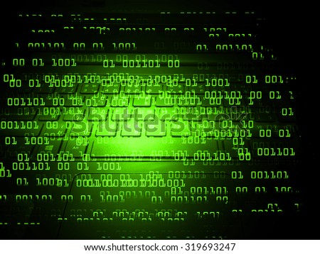 Dark green Light Abstract Technology background for computer graphic website internet business. circuit. illustration. infographics. motion move blur.neon.high tech keyboard with binary number