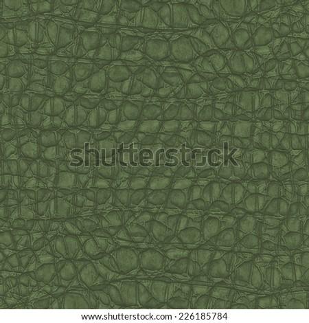 dark green reptile skin texture as background - stock photo