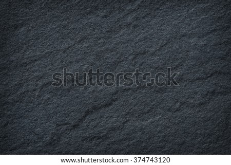Dark grey black slate stone texture / stone background - stock photo