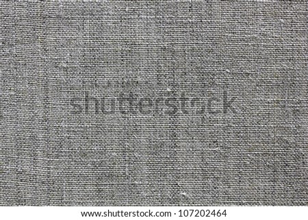 dark grey natural linen texture for the background - stock photo