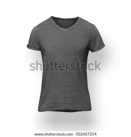 Dark grey t-shirt isolated on white background