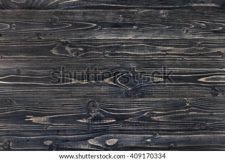 Dark grey wooden background with high resolution. Top view Copy space - stock photo