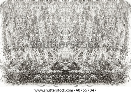 Dark Grunge Geometric Pattern. Modern futuristic painted wall for backdrop or wallpaper with copy space. Close up image