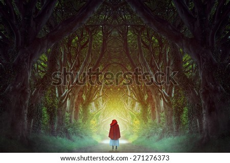 Dark Hedges forest in northern Ireland manipulation . Fantasy and surreal