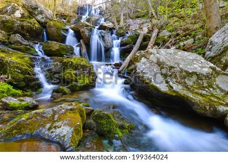 Dark Hollow Falls, Shenandoah National Park, VA, USA - stock photo