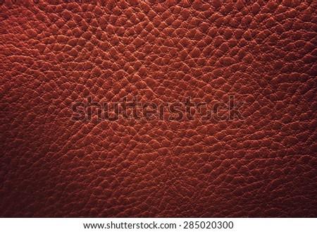 dark leather texture background - stock photo