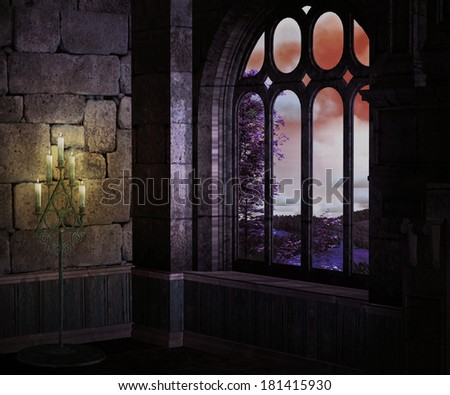 Dark Medieval Background - stock photo