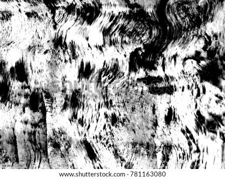 Dark Messy Dust Overlay Distress Background. Black And White Urban Vector Texture Template.