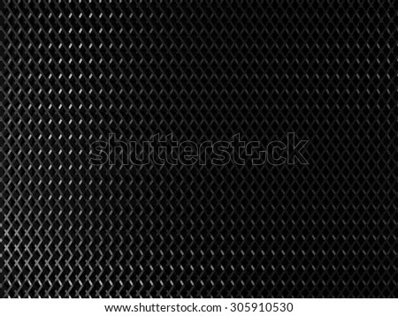 Dark metal background with square elements - stock photo