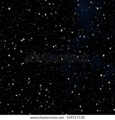 dark nebula sky with white stars - stock photo