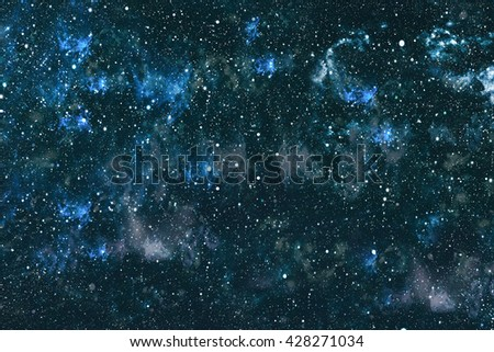 dark night sky with many stars. Milky way on the space background - stock photo