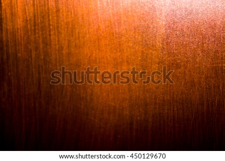 Dark old scary rusty rough golden and copper metal surface texture/background for Halloween or haunted house games background/texture of wall - stock photo