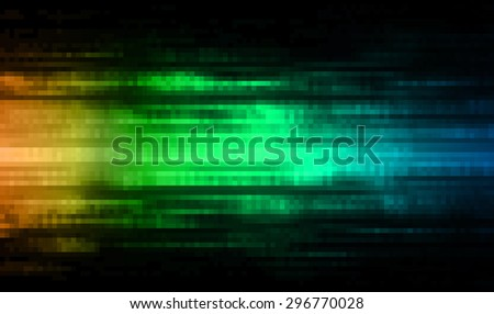 dark orange green blue illustration of technology internet network computer background with binary number, style background. infographics. Information. ray. pixel. - stock photo