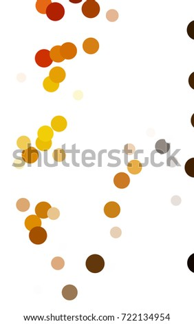 Dark Orange red pattern of geometric circles, shapes. Colorful mosaic banner. Geometric background with colored disks.