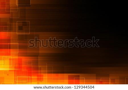 dark orange technical abstract background - stock photo