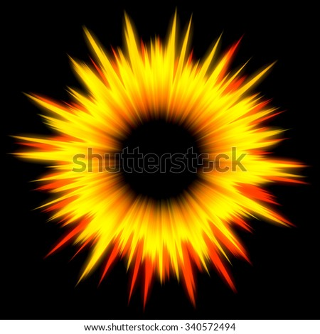 Dark-orange tunnel leading to the light. May symbolise way to heaven after death - stock photo