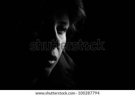 dark portrait