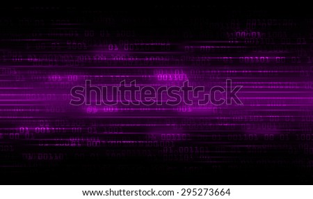 dark purple Binary matrix with motion effect. technology graphic computer cyber. infographics. one. zero. glow.  - stock photo