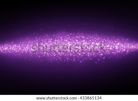 Dark Purple glitter sparkles rays lights bokeh Festive Christmas Elegant abstract background.